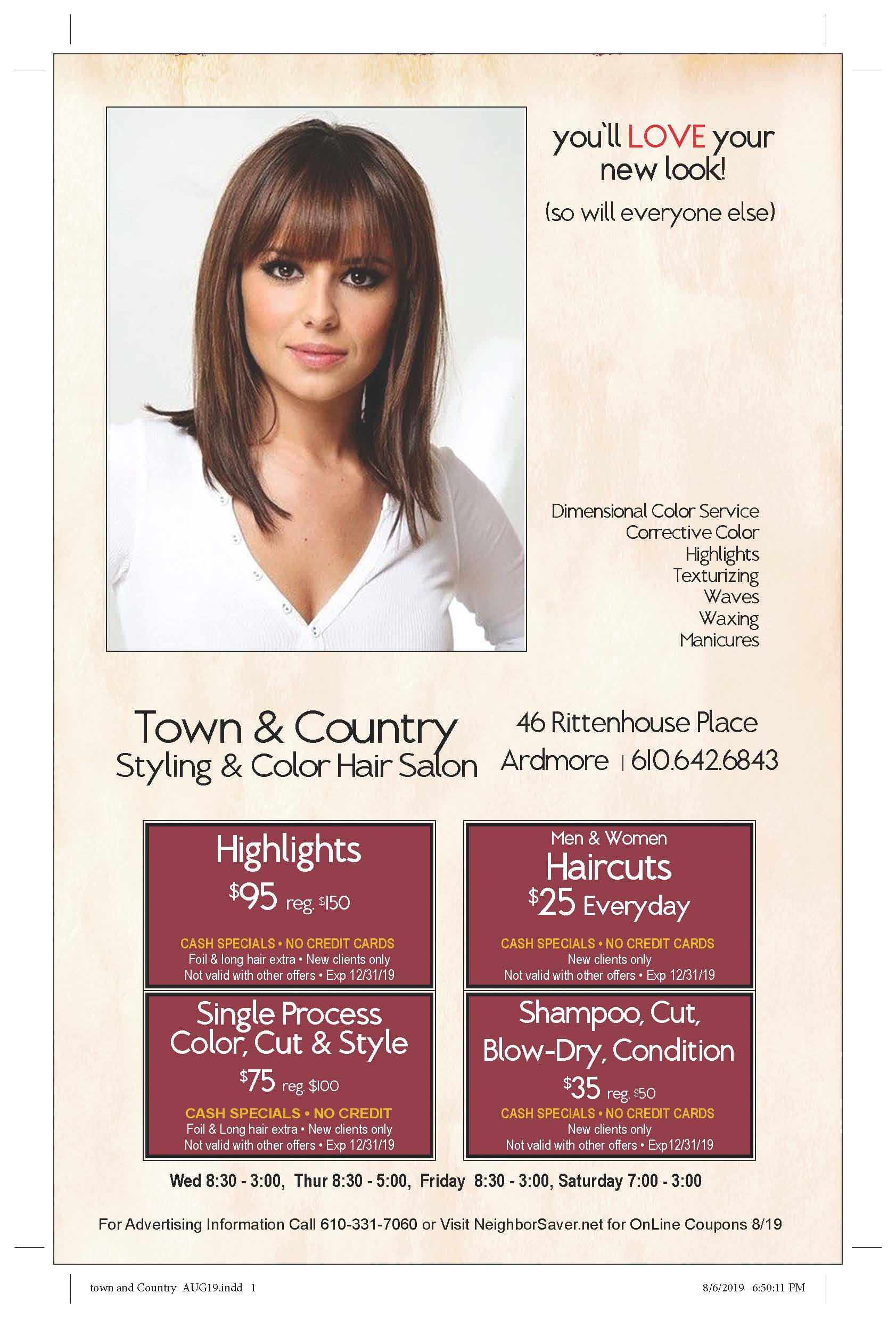 Town & Country September ad