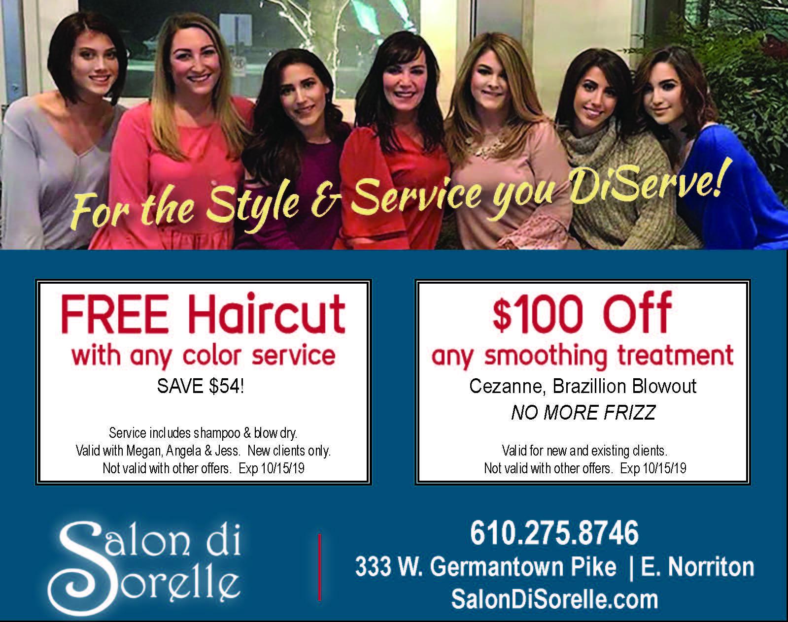 Salon DiSorelle Sept ad